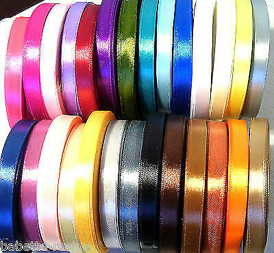Satin Ribbon 10mm Wide X10 Meters For Craft Trim Decorations Wrapping Gifts • 3£