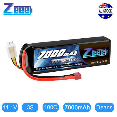 AU72.99 • Buy Zeee 7000mAh 3S 11.1V 100C LiPo Battery Deans For RC Car Truck Boat Helicopter