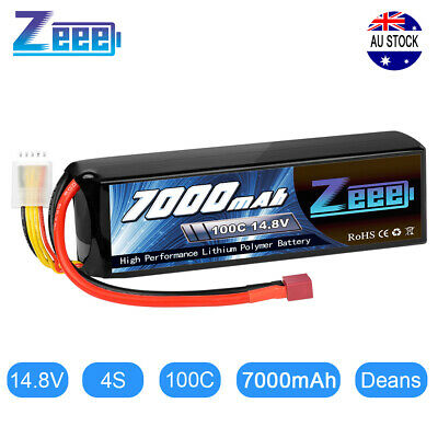 AU85.99 • Buy Zeee 7000mAh 14.8V Deans 4S 100C Lipo Battery For RC Truck Car Helicopter Buggy
