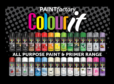 £2.95 • Buy Spray Paint Aerosol 250ml Assorted Colours Finishes Interior Exterior Metal Wood