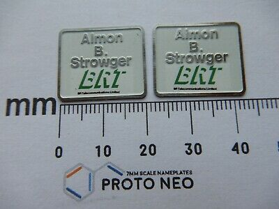 AU23.18 • Buy 20131 Almon B. Strowger. O Gauge Etched 7mm Scale Nameplates. Self Adhesive.