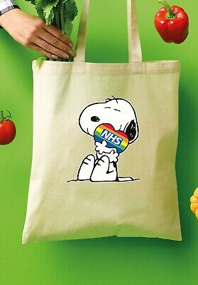 £5.99 • Buy  Snoopy Thank You NHS Tote Shopper Bags 100% Cotton Canvas Grocery Bag V219