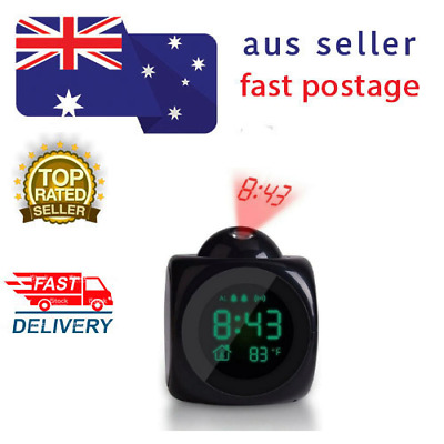 AU46.50 • Buy MULTIFUNCTION PROJECTING ALARM CLOCK LCD Display Time Date Temperature Projector