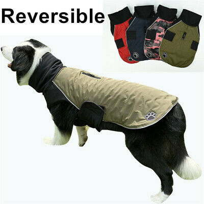Waterproof Warm Winter Dog Coat Clothes Cute Padded Fleece Pet Puppy Vest Jacket • 11.47£