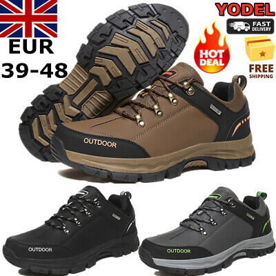 Mens Hiking Boots Walking Wide Fit Trail Trekking Comfortable Trainers Shoes Uk • 29.99£