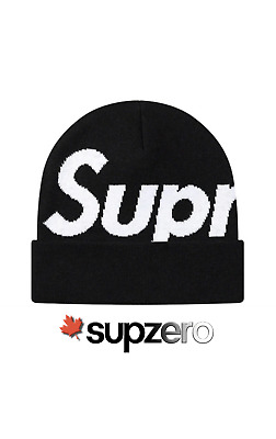 $ CDN125 • Buy Supreme Big Logo Beanie Black FW20 New 100% Authentic DS IN HAND