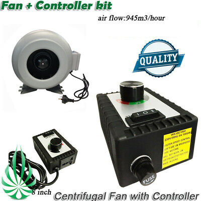 AU180 • Buy 8  Inline Centrifugal Exhaust Duct Fan With High Quality Fan Speed Controller