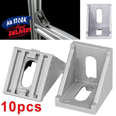 AU14.29 • Buy 10PCS Corner Right Profile L Shape Brace Aluminum Angle Bracket T-slot