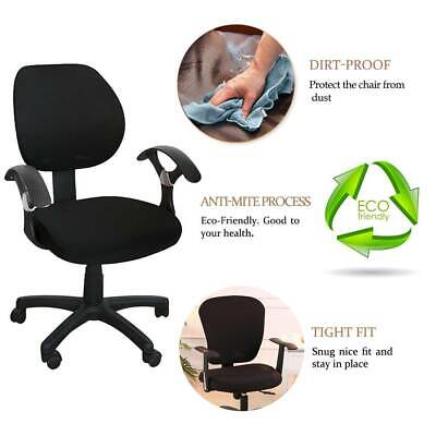AU13.89 • Buy Office Computer Chair Cover Set Rotating Seat Covers Stretch Slipcover Removable