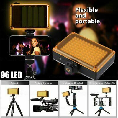 96 LED Light Panel For DSLR Camera GoPro Camcorder Portable Pocket UK STOCK • 12.99£