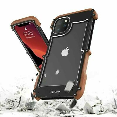 For IPhone 12 11 Pro Max XR 8 Metal Aluminum+Wooden Rugged Armor Shockproof Case • 19.99£