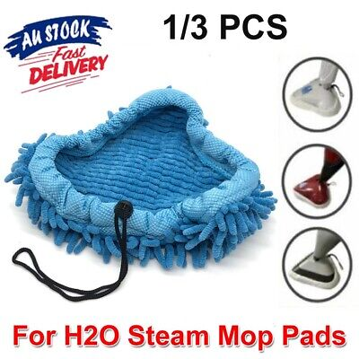 AU11.95 • Buy 1~3pack H20 Steam Mop Pads Replacement For Cleaner Bissell Steamboy CORAL BLUE