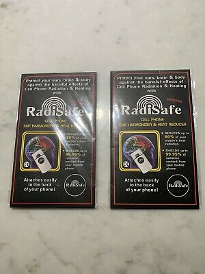 2 X Radisafe Anti Radiation EMF Protection Energy Saver Phone Laptop Stickers • 6£