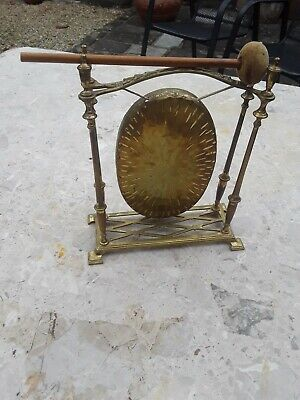 Stylish And Unusual Vintage Brass Gong • 125£