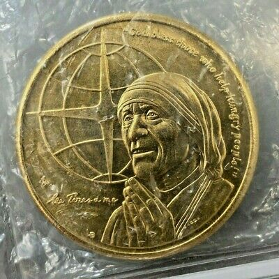 AU16.51 • Buy 1997 Turks & Caicos Islands 5 Crowns Coin Mother Theresa KM# 225