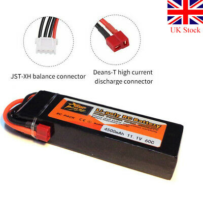 3S LiPo Battery ZOP Power 4500mAh 11.1V 60C T Plug Deans  For RC Car Airplane • 27.35£