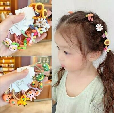 10Set Girls Cute Cartoon Animal Fruit Colorfur Hairpins And Bands For Children  • 6.50£
