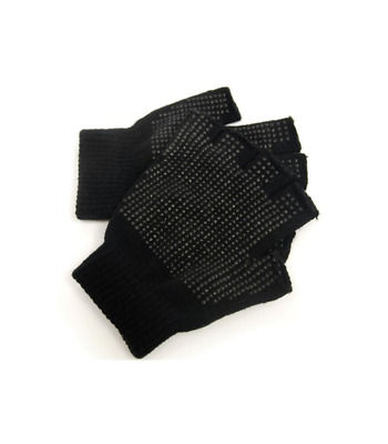 $13.76 • Buy New 12 Pairs Fingerless Magic Gripper Gloves Black Warm Thermal Winter Thick