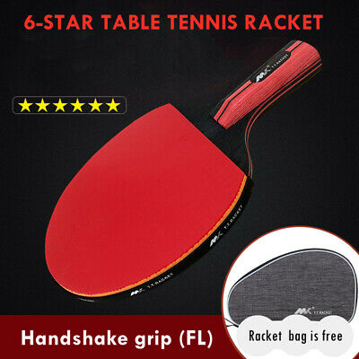 AU30.13 • Buy Professional FL Table Tennis Ping Pong Racket Bat Shakehand Longhand With Rubber