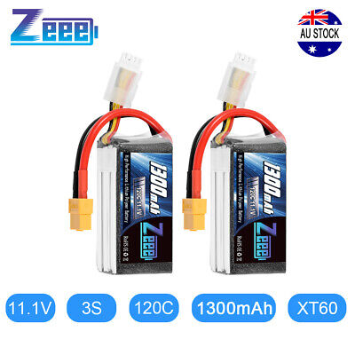 AU37.99 • Buy 2PCS Zeee 1300mAh 120C 11.1V 3S LiPo Battery XT60 Plug For RC FPV Quad Drone