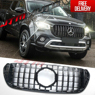 AU440.86 • Buy Gloss Black GT AMG Style Grill Grille To Suit Mercedes X-Class X Class 470