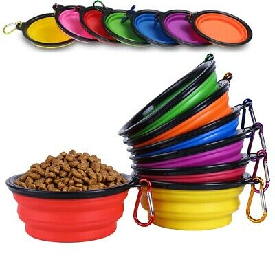 350 Ml Pet Dog Cat Collapsible Feeding Water Food Bowl Travel Camping Portable • 2.89£