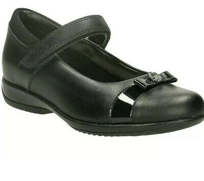 Clarks Daisy Locket Girls Black Leather School Shoes. • 23.99£