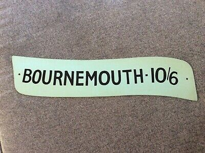 "Vintage Bus Coach Metal Destination / Price A-Board Sign Plate ""Bournemouth"" #2 • 75£"