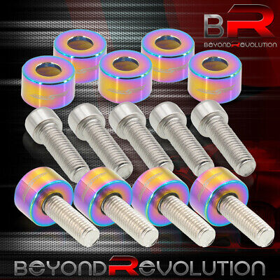 $19.99 • Buy For Honda Acura Exhaust Header Manifold Dress Up Cup Bolts M8X1.25MM Neochrome