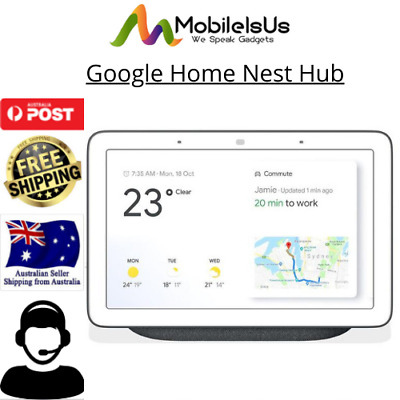 AU139.95 • Buy Google Home Nest Hub Smart Display & Home Assistant GA00516 Charcoal Au Stock