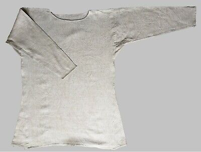 Early Medieval Tunic In Unbleached Pure Linen - To Fit Up To 42  Chest • 49£
