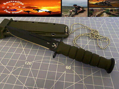 AU9.99 • Buy Neck Knife Small Tactical Outdoor Hunting Camping Fishing With Sheath And Chain