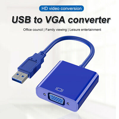 AU8.57 • Buy USB 3.0 Male To VGA 15 Pins Female Video Display Adapter Converter For Laptop PC