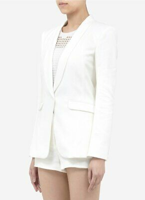 AU46.52 • Buy Rag & Bone White Quilted Jefferson Blazer Jacket Size 0