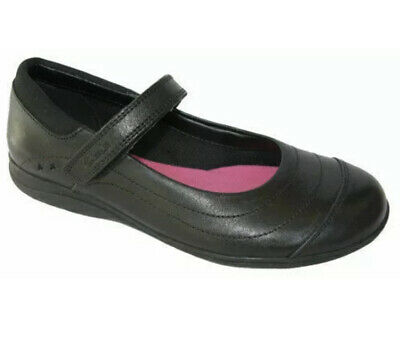 Clarks Girls School Shoes Daisy Dena Black Leather Size UK 1 F EU 33 • 22.99£