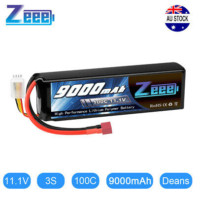 AU85.99 • Buy Zeee 9000mAh 3S 11.1V 100C Metal Plates LiPo Battery Deans For RC Car Truck Tank