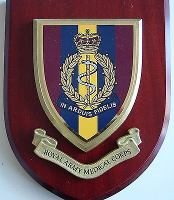 Ramc Royal Army Medical Corps Classic Hand Made Regimental Mess Plaque • 19.99£