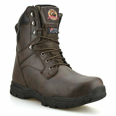 £18.98 • Buy Mens Combat Safety Steel Toe Cap Military Army Work Ankle Biker Boots Shoes Size