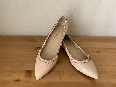 $ CDN34.82 • Buy Ivanka Trump CECILLE Women Sz 7 Nude Leather Spike Pointy Flats Shoes