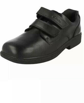 Boys Clarks Deaton Black Leather Inf School Shoes, Brand New Uk Size 8.5 H EU 26 • 24.99£