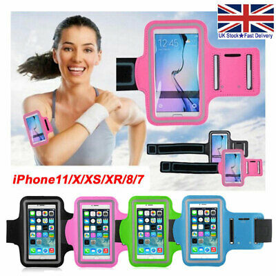 Sports Running Armband Case Jogging Gym Bag Cover Holder For IPhone 12 11 XS 8 7 • 2.99£
