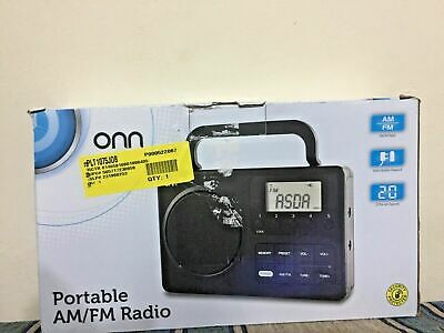 Onn AM/FM Digital Portable Electric And Battery Powered FREE FAST DELIVERY • 9.95£