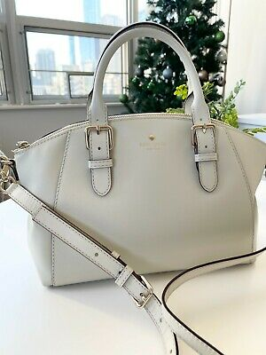 $ CDN114.77 • Buy KATE SPADE LEATHER MEDIUM SATCHEL SHOULDER CROSSBODY BAG PURSE $359 White
