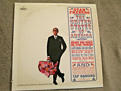 STAN FREBERG - The United States Of America '61 VINYL LP CAPITOL SM-1573 Comedy • 2.86£