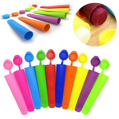 2Pcs DIY Silicone Ice Block Moulds Ice Cream Molds Icy Pole Jelly Popsicle Maker • 3.55£