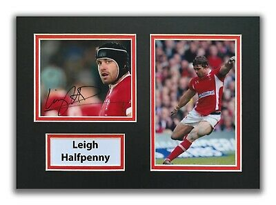 £34.99 • Buy Leigh Halfpenny Hand Signed A4 Mounted Photo Display - Wales Rugby Autograph.