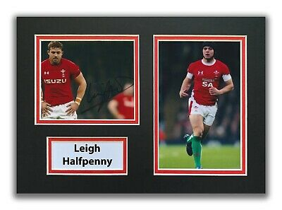 £34.99 • Buy Leigh Halfpenny Hand Signed A4 Mounted Photo Display - Wales Rugby Autograph 2