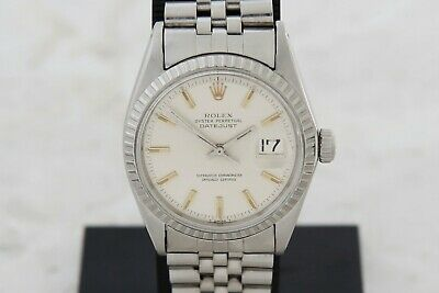 $ CDN4859.85 • Buy Vintage ROLEX Oyster Perpetual Datejust Automatic Cal.1570 Steel 36mm Ref: 1601