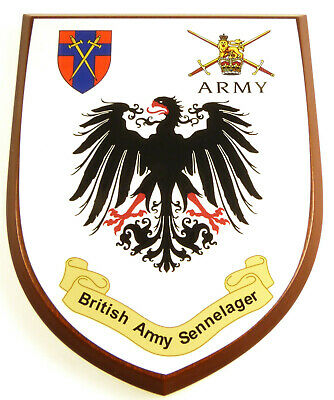 Baor British Army Sennelager Classic Hand Made In Uk Regimental Mess Plaque • 19.99£
