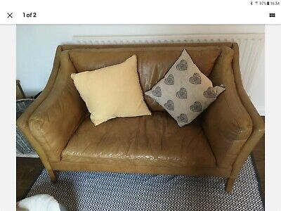 John Lewis Halo Reggio Tan Leather Sofa • 650£